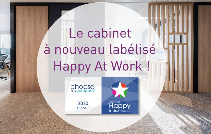 Happy At Work - Le cabinet à nouveau labélisé !